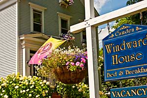 Windward House Sign & Flowers