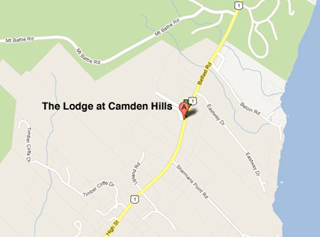 The Lodge at Camden Hills map