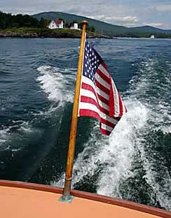 Boat cruise on Penobscot Bay