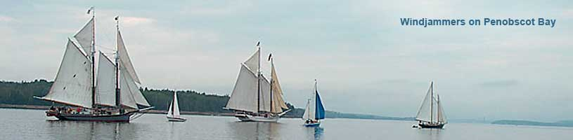 Windjammers on Penobscot Bay